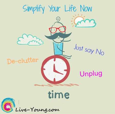Simplify your life | new blog post on Live-Young.com