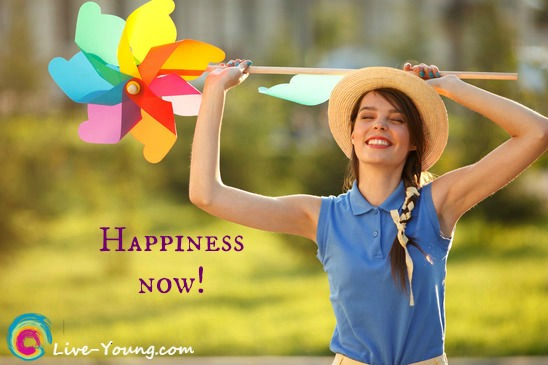 15 tips for happiness now | new blog post on  Live-Young.com