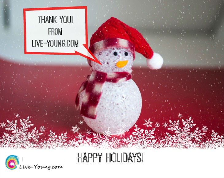 Happy Holidays with Gratitude | new on Live-Young.com