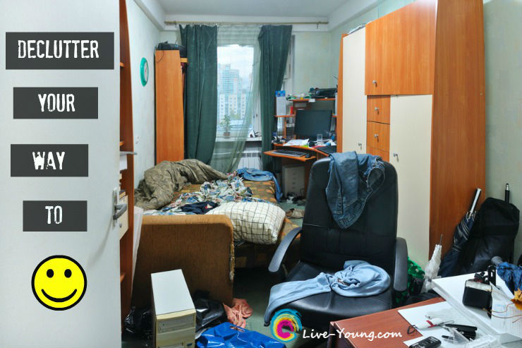 Here's How to Declutter Your Way to Happiness | new on Live-Young.com #declutter